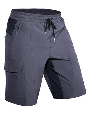 Hiauspor Pantaloncini da mountain bike con tasche larghi da uomo