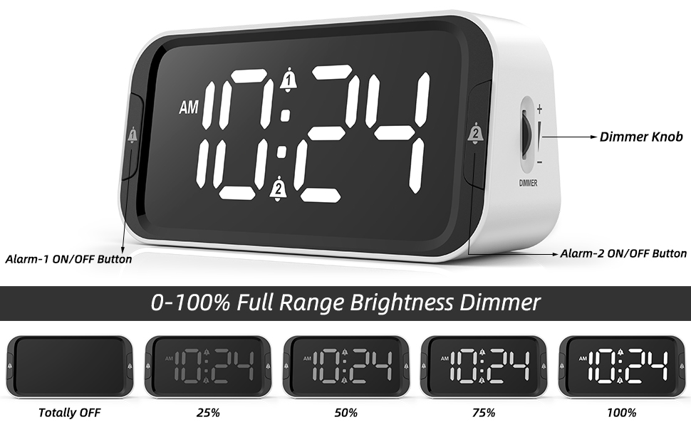 Ultra Clear LED Display with 0-100% Full Range Dimmer