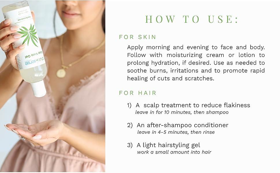 Natural skin care, NaturSense, Aloe Vera Gel, Organic