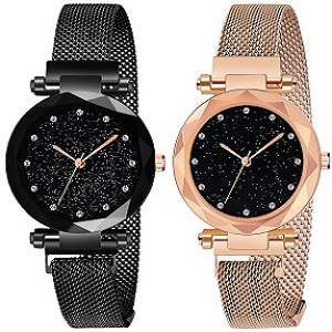 Acnos Women's magnetic Watches combo set