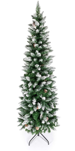 Snow Pencil Christmas Tree with Pine Cone Decorated