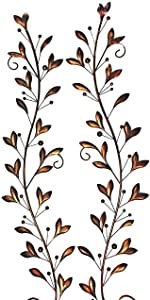 31 inch Wide Leaf and Berry Metal Wall Decor 31 x 6