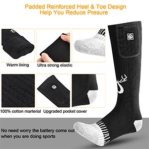 Details of heated socks