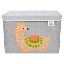 animal canvas toy storage basket chest foldable