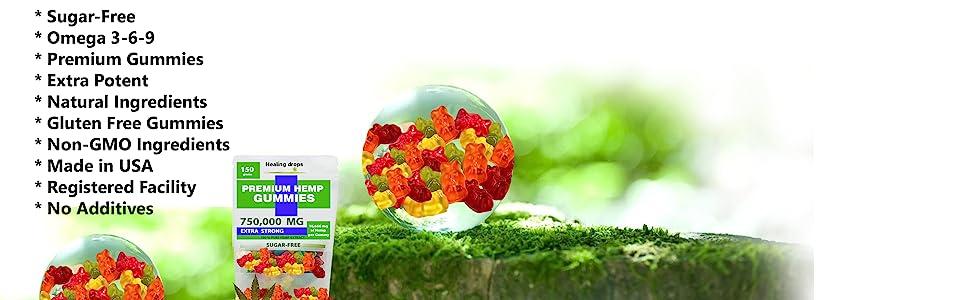 Sugar-Free  Premium Gummies 750,000mg