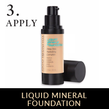 liquid foundation makeup powder matte dewy mineral  full coverage lightweight noncomedogenic setting