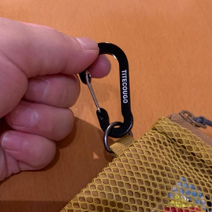 TITECOUGO Mini Carabiner Keychain for Camping Tent Backpack Bottle Accessories