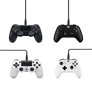 6amLifestyle Cable Micro USB para Carga Mando PS4 y Xbox One 3M ...