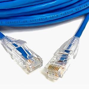 cat6 cat5e plenum rj45 ethernet network patch cord cable