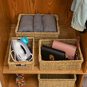 Seagrass baskets for home