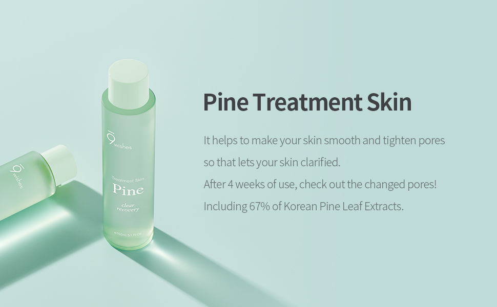 Amazon.com : [9wishes] Pine Treatment Skin 5.1 Fl.Oz, e150ml : Beauty