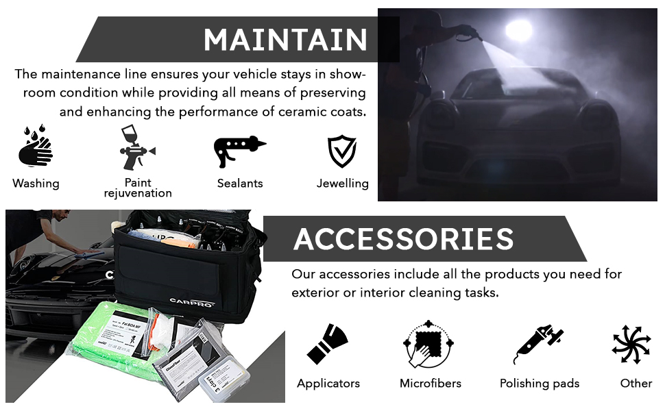 CARPRO also makes products for maintenance and accessories