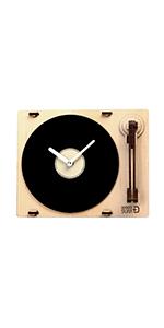 Turntable shaped clock