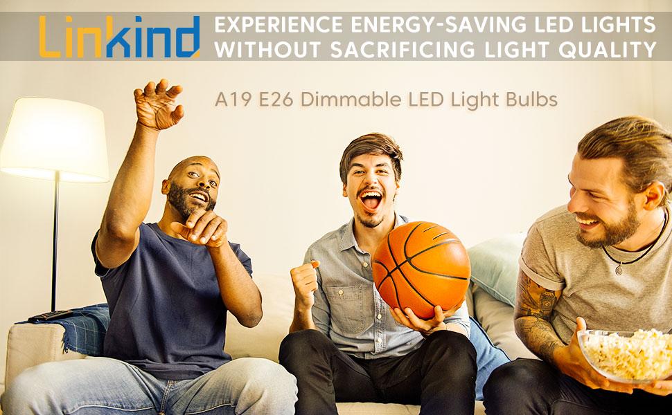 Linkind A19 E26 Dimmable LED Light Bulbs
