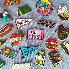 Badge Bomb Enamel Pins