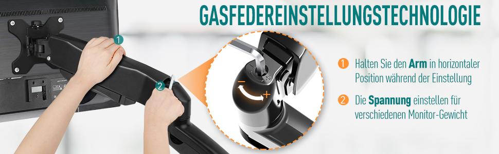 GASFEDEREINSTELLUNGSTECHNOLOGIE