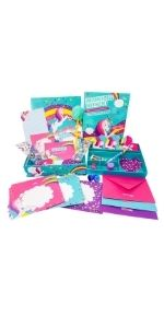Gifts for girls girls gifts arts amp; crafts for girls age 5 6 7 8 9 10 unicorn writing set stationery