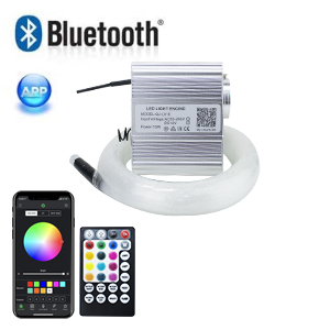 10W RGBW Twinkle+Music Control+Bluetooth APP Fiber Optic Lights