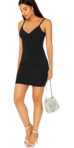 Women V Neck Cami Dress