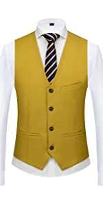 sleeveless suit vest