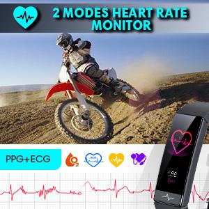 Heart Rate Monitor IP68 Waterproof Watch with HRV Health Sleep  Monitor SPO2 Blood Oxygen