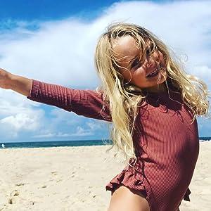 baby girl long sleeve bathing suit