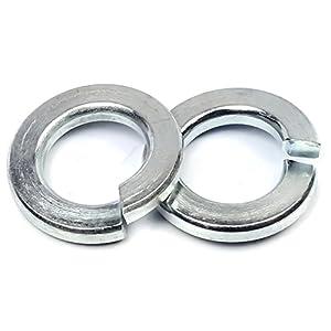 "Sizes #4 to 1/"" Zinc Plated Steel Lock Washers Medium Split Ring"