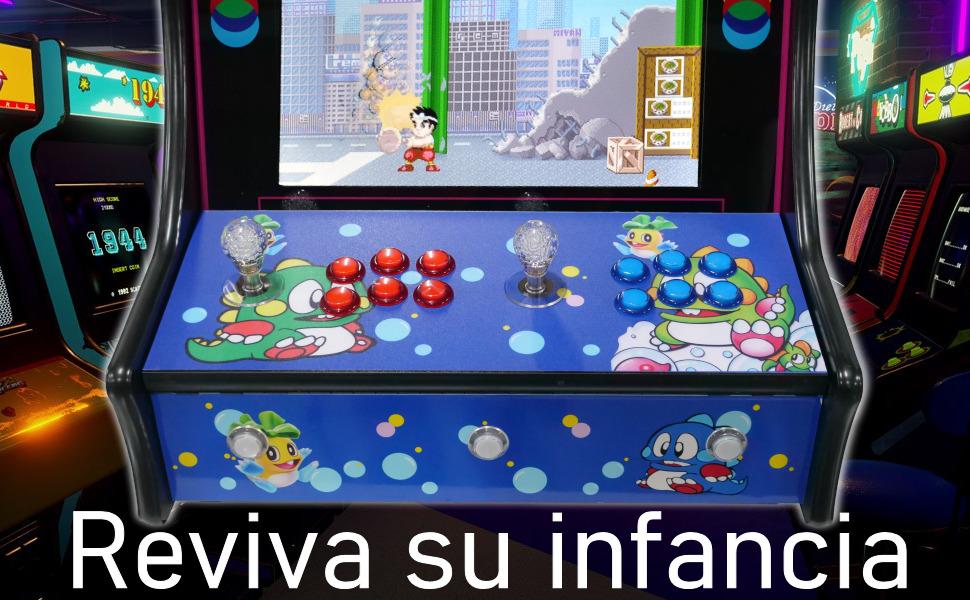 maquina recreativa, arcade, bartop, retro, consola, pandora box, pandora box 9d, mame, neogeo