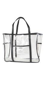 clear beach tote bag