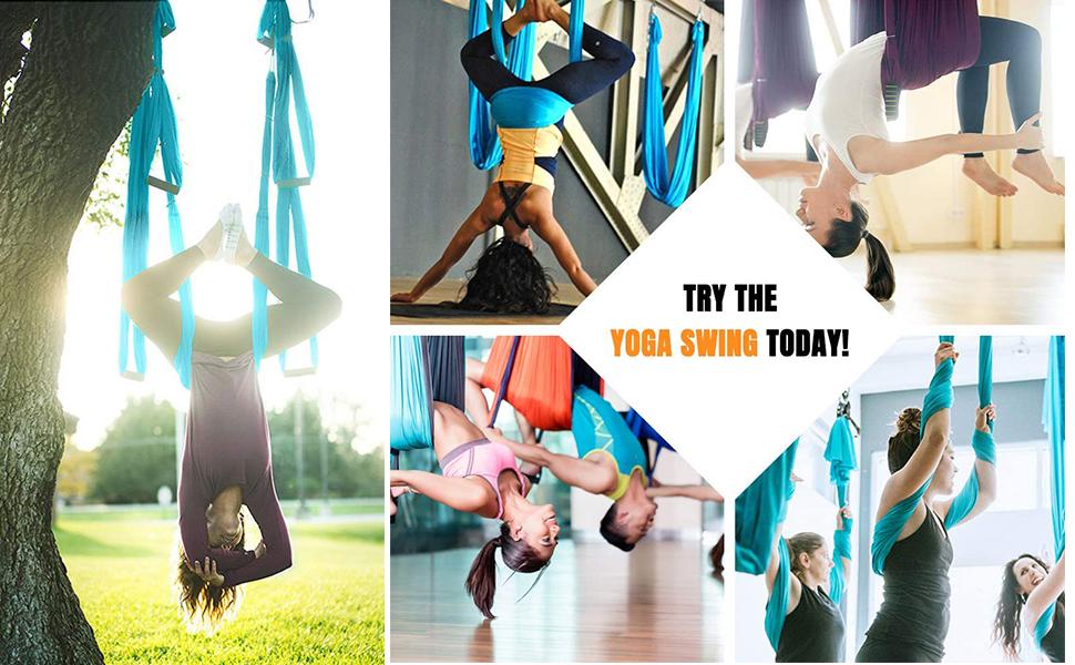 Aerial Yoga Swing Set Flying Yoga Hammock Trapeze Sling Antigravity Ceiling Hanging Inversion Tool