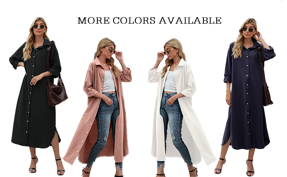 Women Fall casual loose maxi dresses