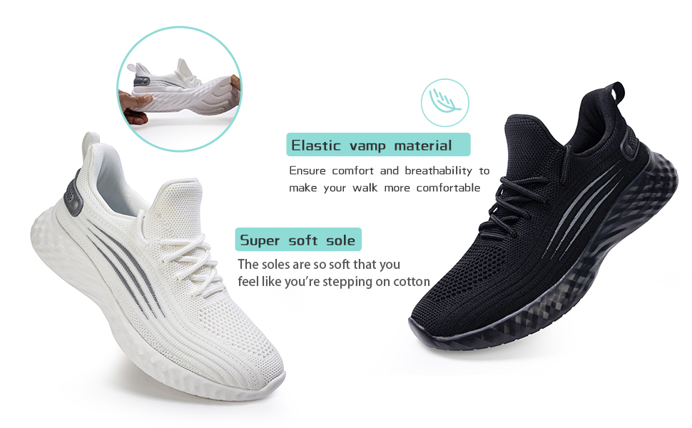 Women's Running Tennis Shoes - Lightweight Non Slip Breathable Sneakers Sports Athletic Work Shoes