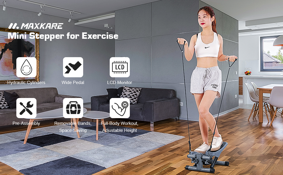 MaxKare Mini Steppers for Exercise
