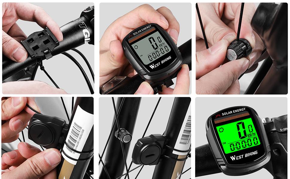 wireless bike speedometer odometer waterproof bicycle computer bike computer automatic wake-up