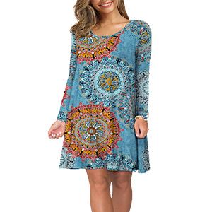 Women's Casual Plain Simple Long Sleeve T-Shirt Loose