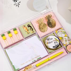 pineapple stationery set sticky notes notepads