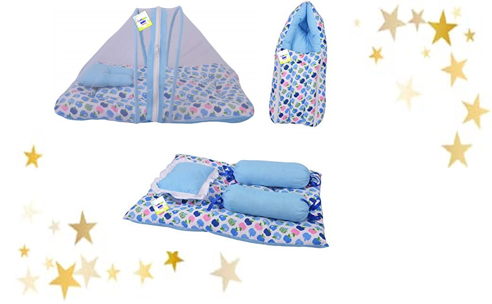 baby mattress new born sleeping bag net bed for new born mosquito bedding set gaddi with pillow set