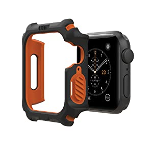 URBAN ARMOR GEAR UAG APPLE WATCH CASE 44MM BLACK/ORANGE, RUGGED, TOUGH, PROTECTIVE, STRONG, GUARD