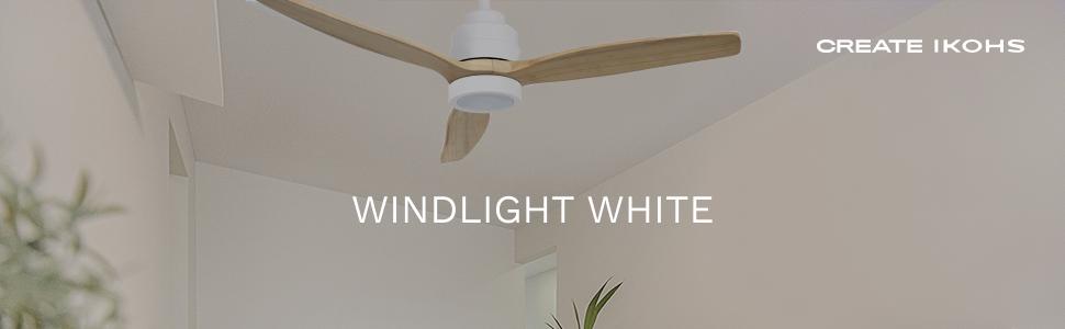 IKOHS WINDLIGHT White - Ventilador de Techo con Luz, 3 Aspas ...