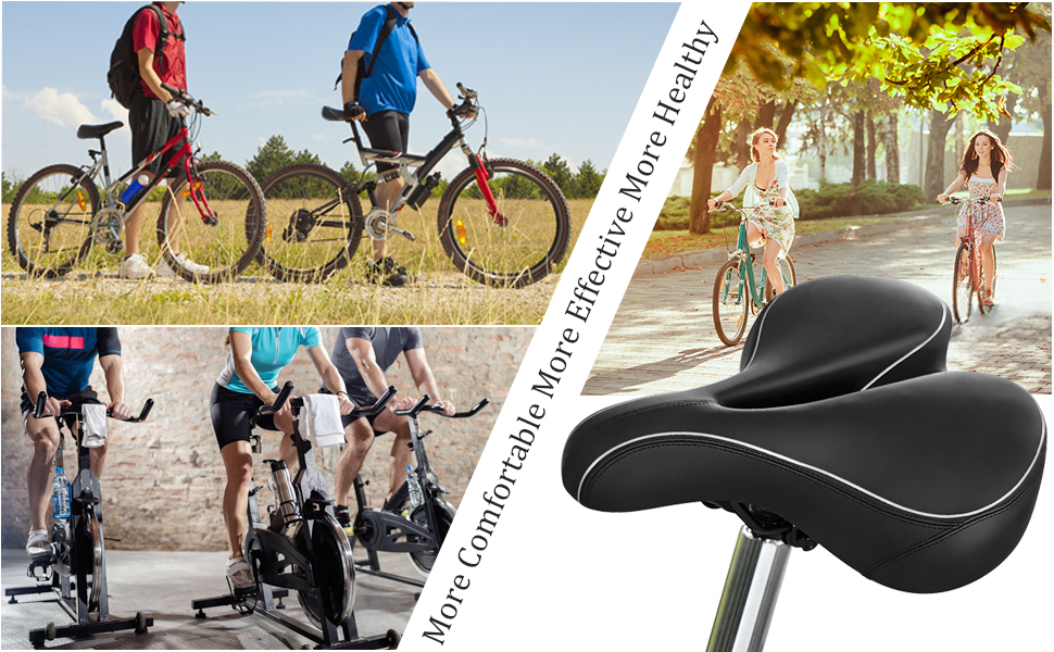 Bike Saddle Cushion Replacement Seat Road Bicycle Racing Riding Ventilation Hot