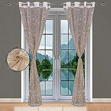 Beige Sheer Curtains