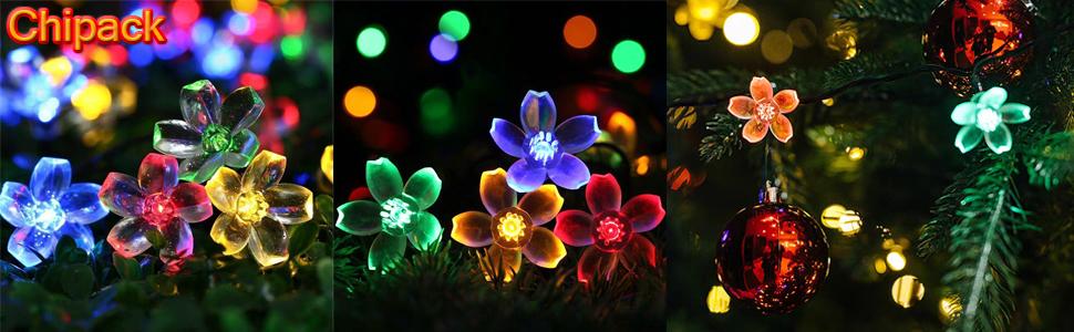 30 LED Blossom Solar Powered Fairy Lights