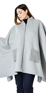 Grey Wool Cape