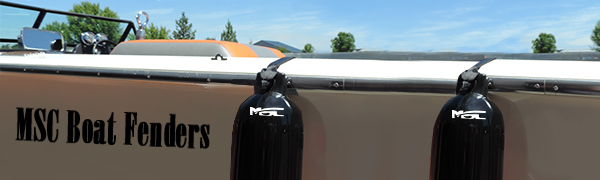 Renewed w//Fender Lines and a Simply Constructed inflator MSC Vinyl Ribbed Boat Fenders Bumpers