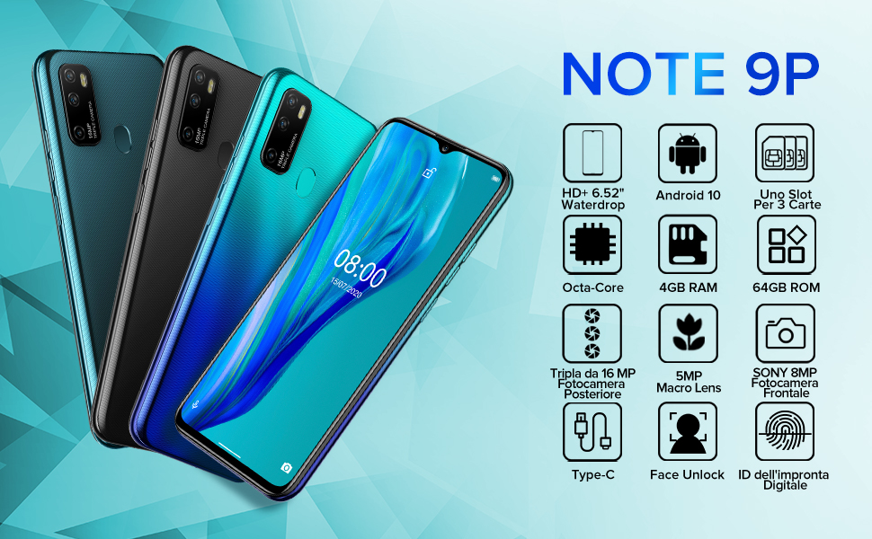 Note 9P smartphone