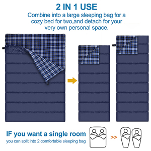 Convert to two single sleeping bag