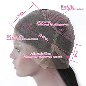 360 lace wig cap structure