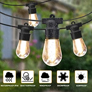 backyard porch bistro party gazebo cafe edison string lights camping cwedding garden string light