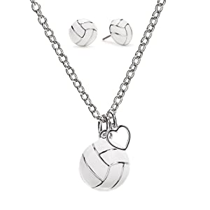volleyball heart necklace