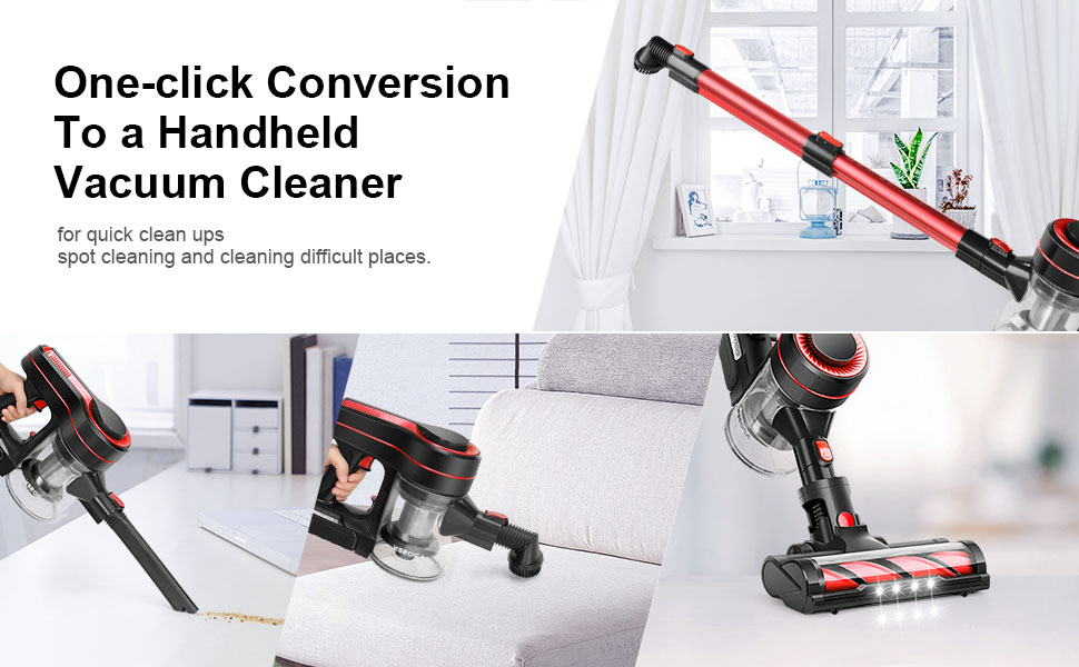 One-click Conversion To a Handheld Vacuum Cleaner